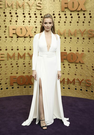 <p>Jodie Comer de <strong>Tom Ford</strong></p><br>