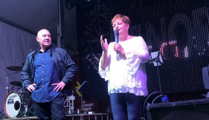 José Leiva y Virtudes Pérez.