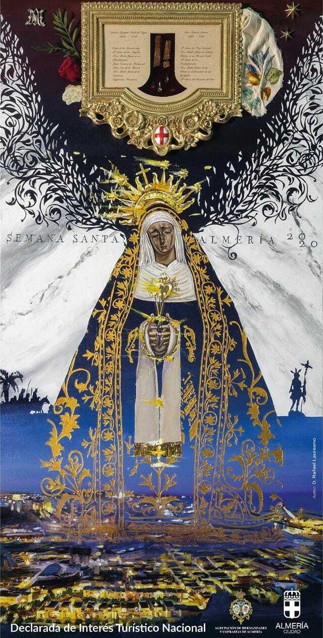 Cartel anunciador de la Semana Santa de Almería 2020.