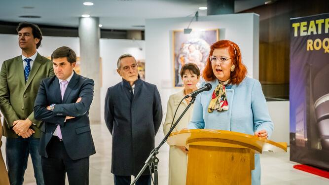 Intervención de Carmen Rubio, comisaria de la exposición de Carmen Pinteño.